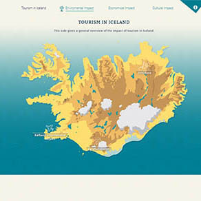 Sustainable tourism in Iceland webdesign preview